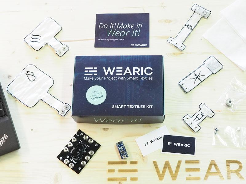 Smart Textiles Kit - wearable - incl nano controller